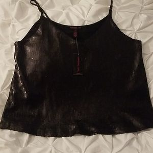 Material Girl Tops - Sequined Cami